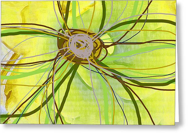 Alternative Home Decor Greeting Cards - Big Pop Floral II Greeting Card by Ricki Mountain