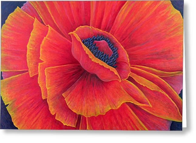 Big Poppy Greeting Card by Ruth Addinall