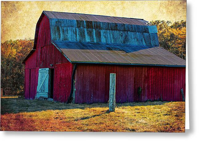 Old Barns Digital Art Greeting Cards - Big Red Greeting Card by Bill Tiepelman