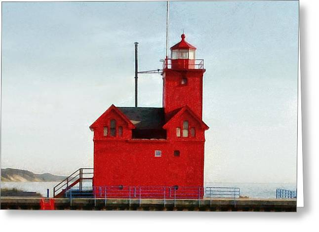 Michelle Greeting Cards - Big Red Greeting Card by Michelle Calkins