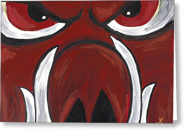 Big Red Greeting Card by Robin Taylor