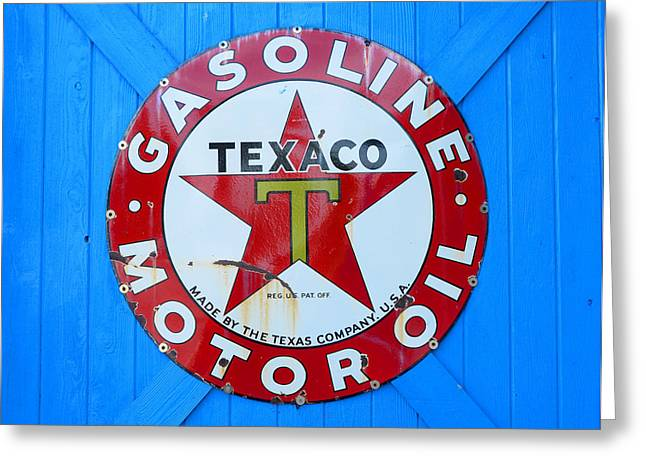 Texaco Sign Greeting Cards - Big Red Star Greeting Card by David Lee Thompson