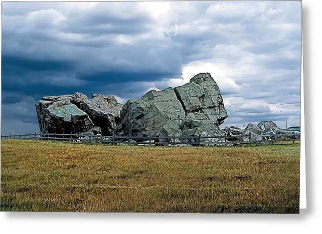 Ranch Paintings Greeting Cards - Big Rock 2 Greeting Card by Terry Reynoldson