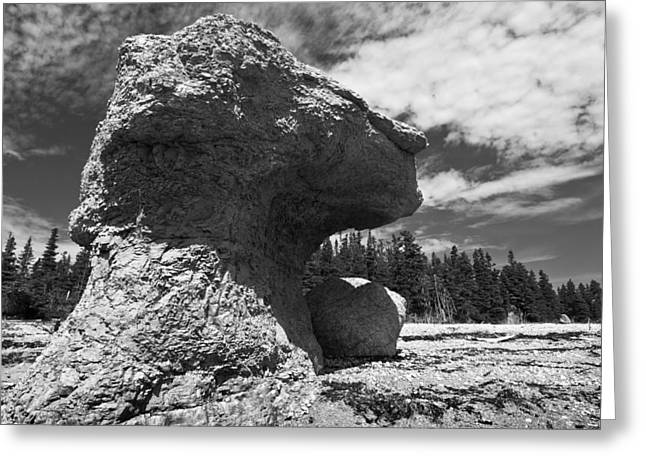 Monolith Greeting Cards - Big rock head Greeting Card by Arkady Kunysz