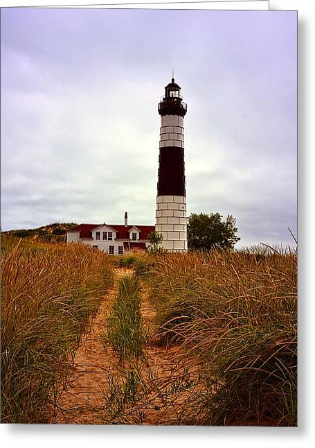 Ludington State Park Greeting Cards - Big Sable Lighthouse - Ludington Michigan Greeting Card by Michelle Calkins