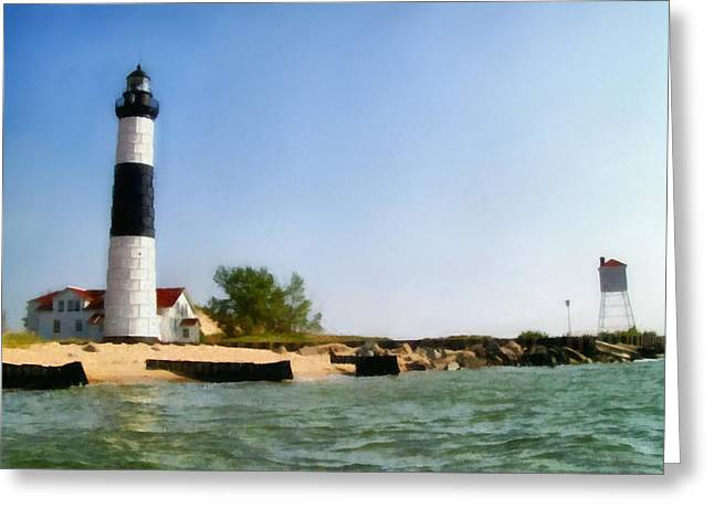 Ludington State Park Greeting Cards - Big Sable Point Light Greeting Card by Michelle Calkins