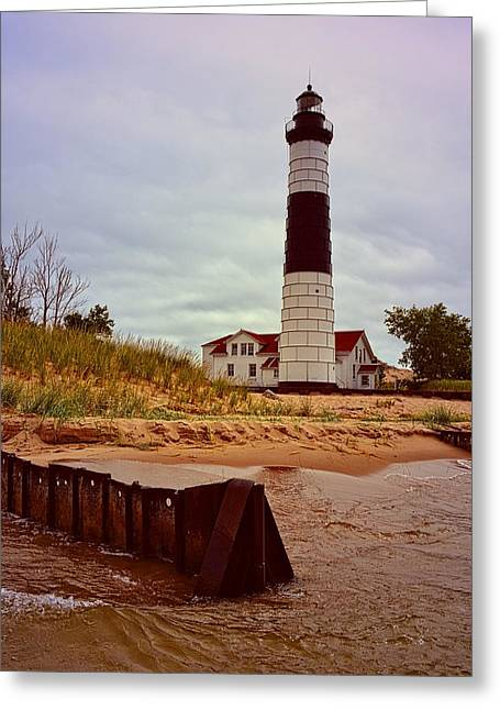 Ludington State Park Greeting Cards - Big Sable Point Lighthouse Greeting Card by Michelle Calkins