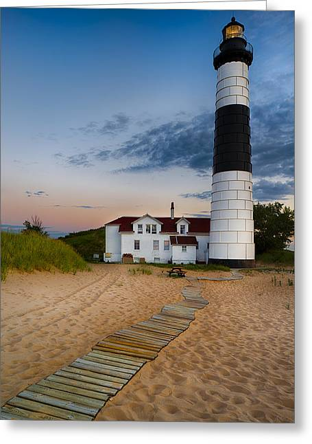 Boardwalk Greeting Cards - Big Sable Point Lighthouse Greeting Card by Sebastian Musial