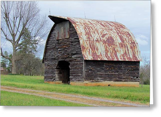 Historic Country Store Digital Art Greeting Cards - Gothic Arch-Roofed Barn Greeting Card by Cynthia Guinn