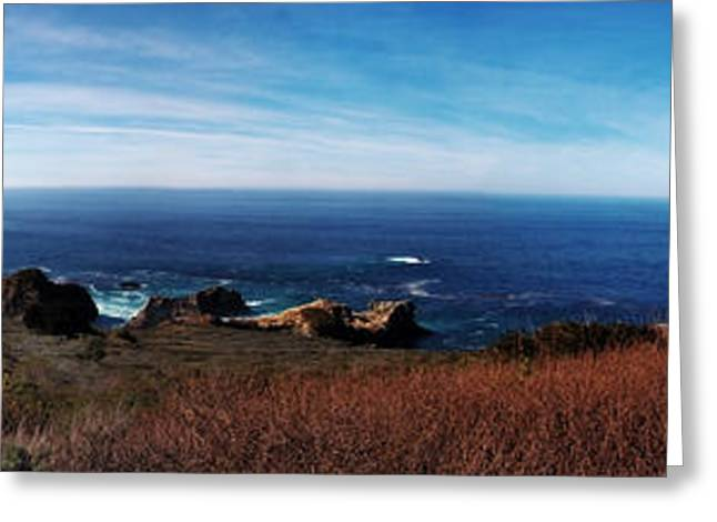 Big Sir California Greeting Cards - Big Sir - Full Color Panorama Greeting Card by Kevin McElligott