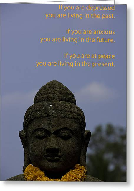 Religiious Greeting Cards - Big Sky Buddha Living in the Present Greeting Card by Paul Donohoe