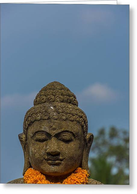 Religiious Greeting Cards - Big Sky Buddha Greeting Card by Paul Donohoe