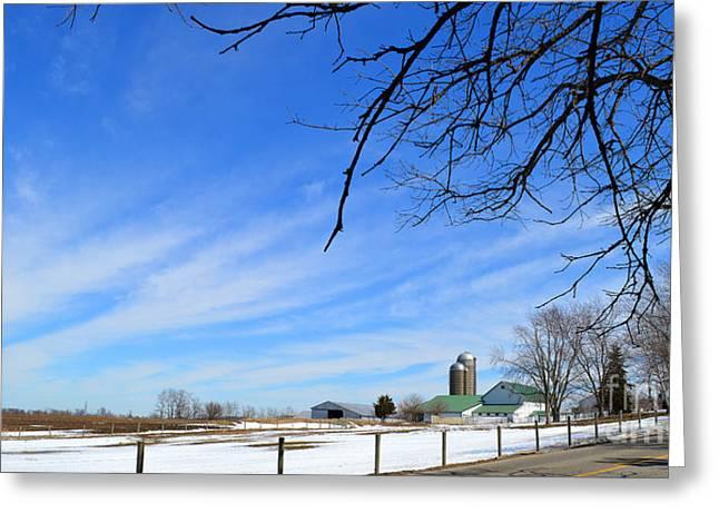 Rural Indiana Greeting Cards - Big Sky Indiana Greeting Card by Tina M Wenger