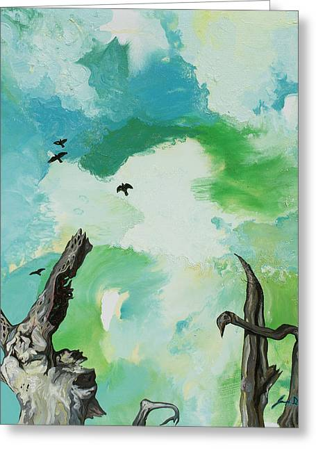 Idiomism Greeting Cards - Big Sky Greeting Card by Joseph Demaree