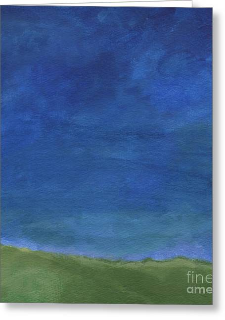 Grasses Greeting Cards - Big Sky Greeting Card by Linda Woods