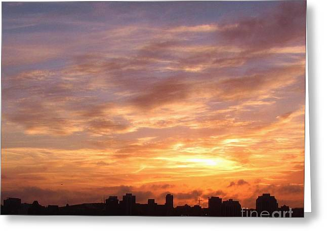 Big Sky Over Halifax Harbour Greeting Card by John Malone