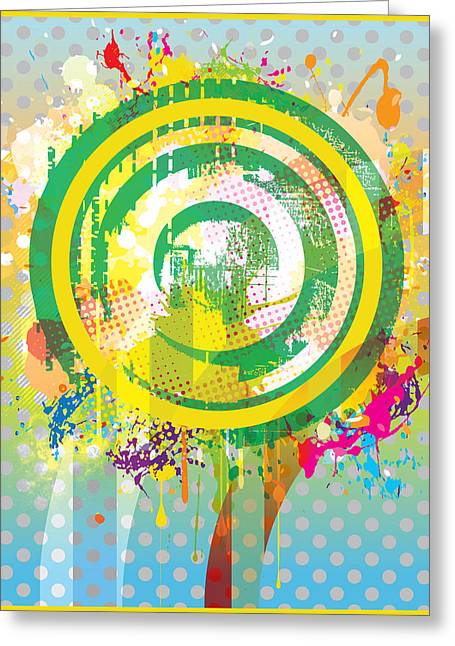 Engraving Digital Greeting Cards - Big Splat Greeting Card by Gary Grayson