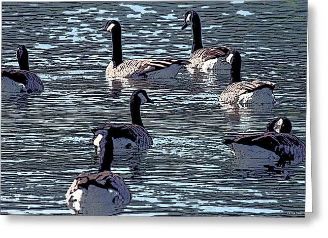 Geese Greeting Cards - Big Spring Goose Art I   Greeting Card by Lesa Fine