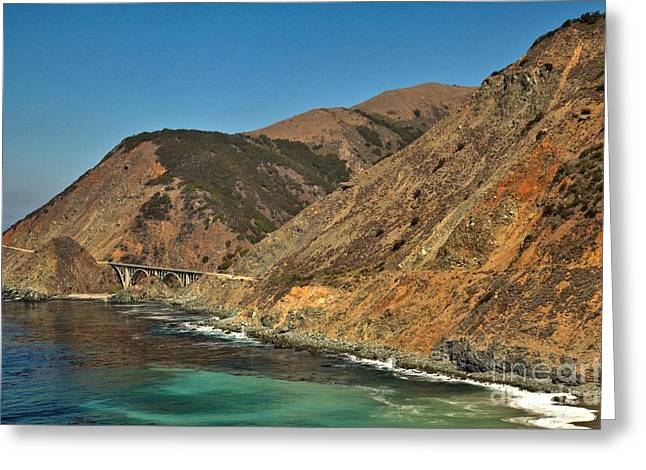 Big Sur And The Bridge Greeting Card by Adam Jewell
