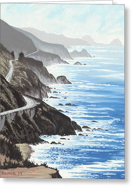 Coast Hwy Ca Greeting Cards - Big Sur Greeting Card by Andrew Palmer