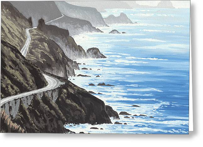 Big Sur Greeting Card by Andrew Palmer