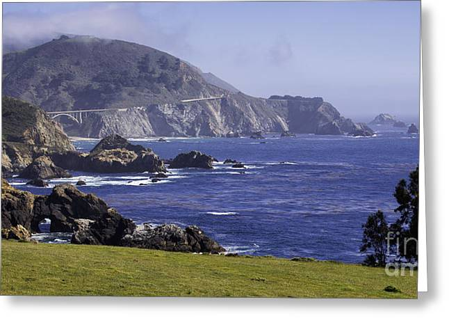 Ocean Panorama Greeting Cards - Big Sur at Rocky Creek Greeting Card by George Oze