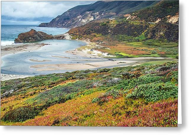 Big Sur Autumn Landscape Greeting Card by Pierre Leclerc Photography