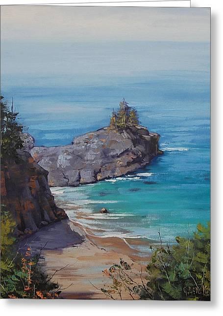 Central Coast Greeting Cards - Big Sur Beach Greeting Card by Graham Gercken