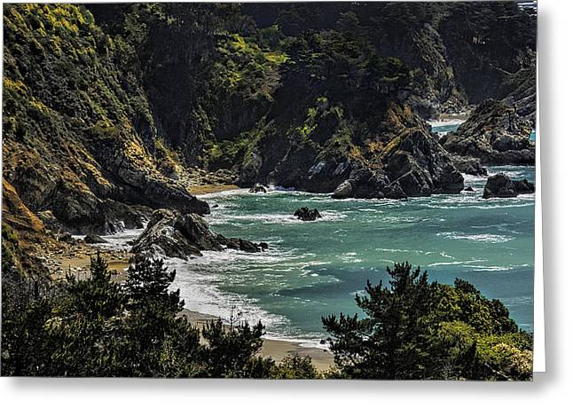 Big Sur Beach Photographs Greeting Cards - Big Sur Beach Greeting Card by Lynn Andrews