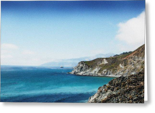 Big Sur Blue Greeting Card by Ari Jacobs