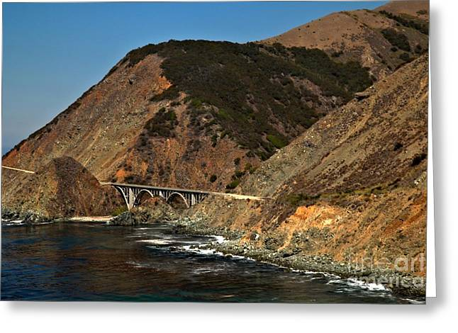 Big Sur California Greeting Cards - Big Sur Bridge Greeting Card by Adam Jewell