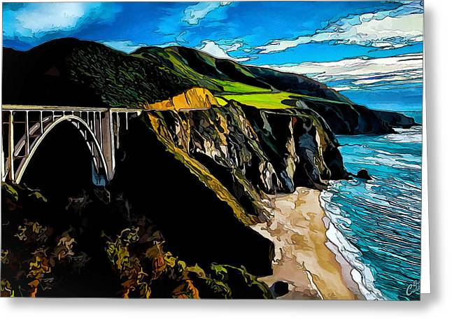 Bixby Bridge Greeting Cards - Big Sur Bridge Greeting Card by Bill Caldwell -        ABeautifulSky Photography
