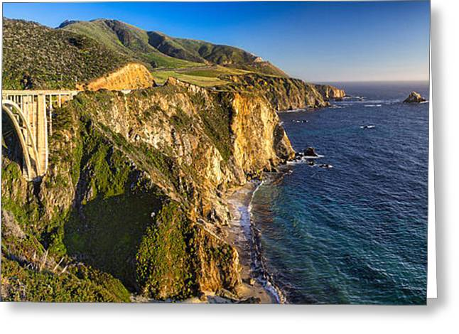 Big Sur Bridge  Greeting Card by George Oze