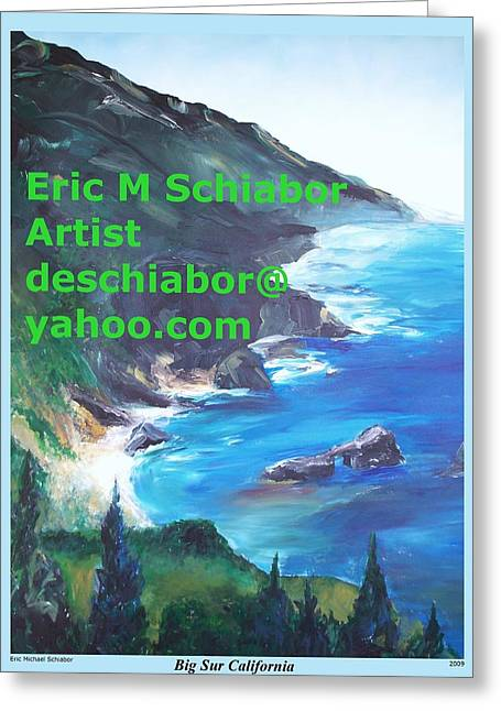 Big Sur Califorina Greeting Card by Eric  Schiabor