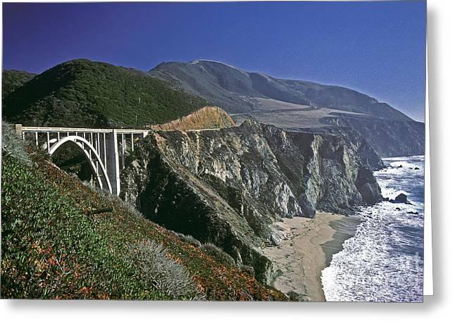 Bixby Bridge Greeting Cards - Big Sur California Greeting Card by Howard Stapleton