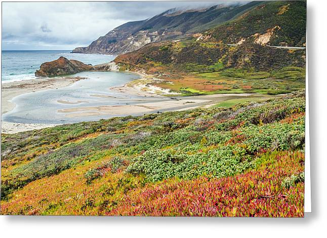 Big Sur California Greeting Cards - Big Sur California in Autumn Greeting Card by Pierre Leclerc Photography