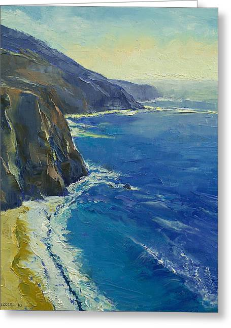 California Beach Art Greeting Cards - Big Sur California Greeting Card by Michael Creese