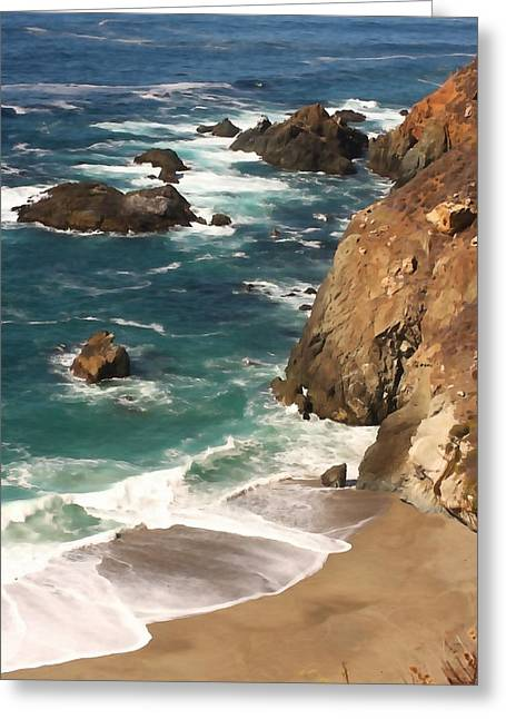 Santa Lucia Mountains Greeting Cards - Big Sur Coast Greeting Card by Art Block Collections
