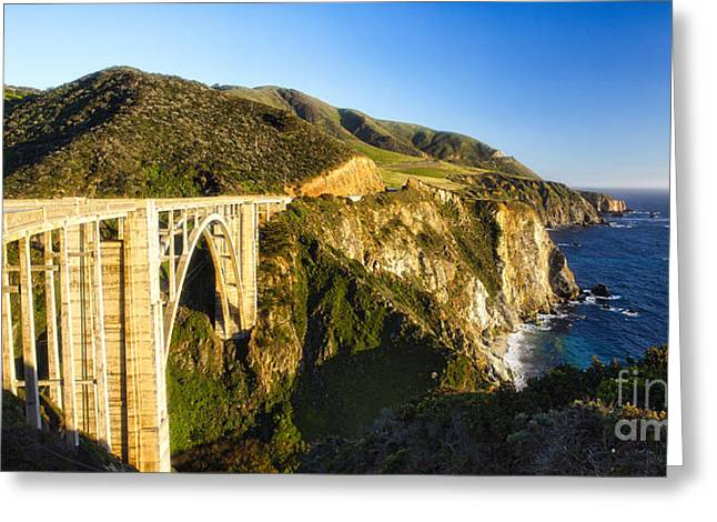 Big Sur Coast At The Bixby Creek Bridge Greeting Card by George Oze