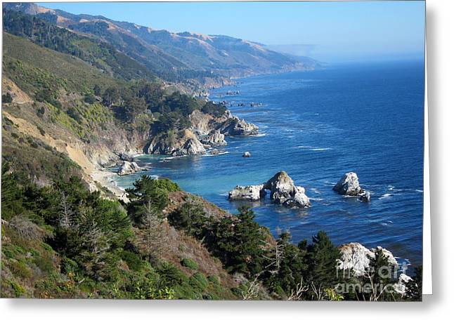 Big Sur Ca Greeting Cards - Big Sur Coast CA Greeting Card by Debra Thompson