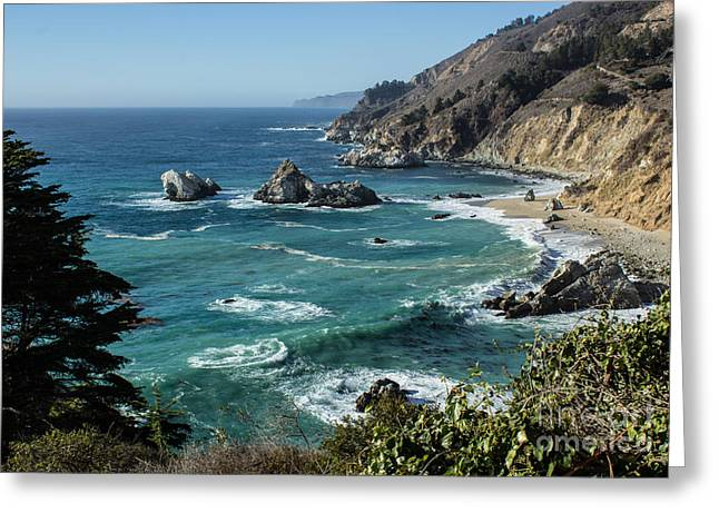 Big Sur Coast From Julia Pfeiffer Burns Greeting Card by Suzanne Luft