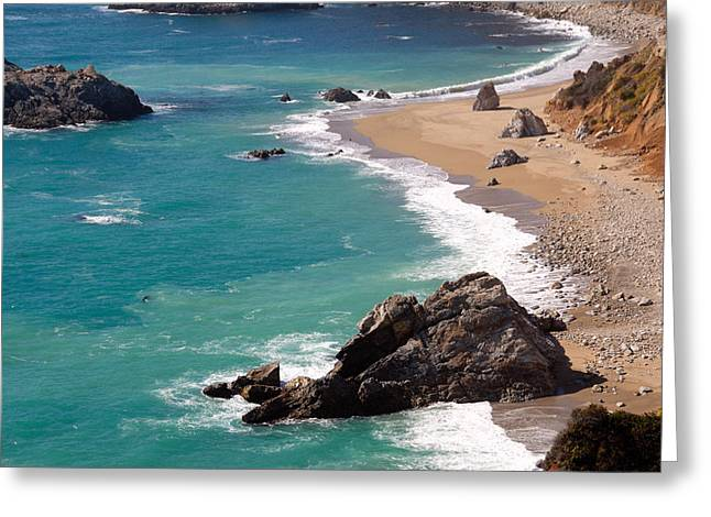 Coast Hwy Ca Greeting Cards - Big Sur Coast Greeting Card by Lynn Bauer