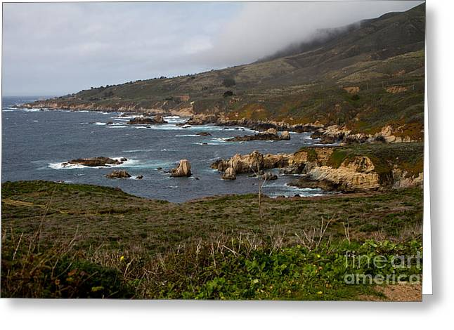Big Sur Ca Greeting Cards - Big Sur Coast North of Bixby Bridge Greeting Card by Dan Hartford