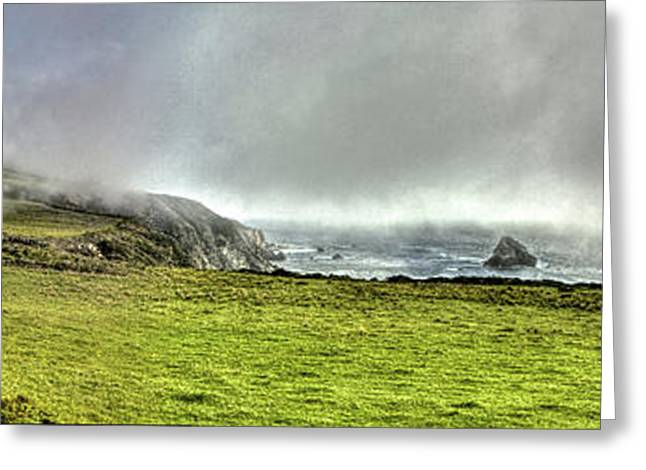 Big Sur Beach Greeting Cards - Big Sur Coast Pano Greeting Card by SC Heffner