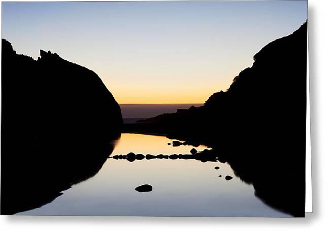Big Sur Coast Silhouette Greeting Card by Jenna Szerlag