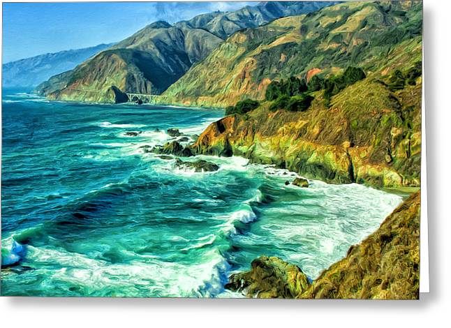 Big Sur Coast South Of Carmel Greeting Card by Dominic Piperata