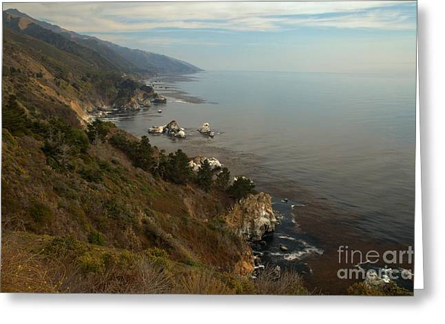 Big Sur California Greeting Cards - Big Sur Coastal Cliffs Greeting Card by Adam Jewell
