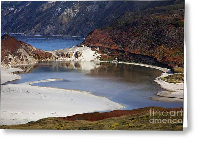 Big Sur Coastal Pond Greeting Card by Jenna Szerlag