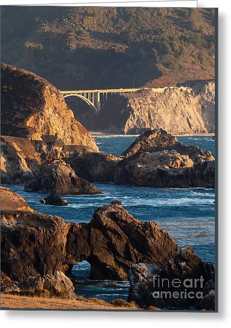 Big Sur Coastal Serenity Greeting Card by Mike Reid