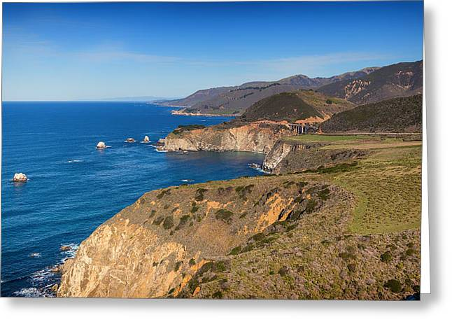 Pch Greeting Cards - Big Sur Coastline 2 Greeting Card by Nadim Baki